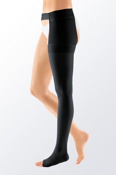 Medi Mediven Plus Class 1 Black Left Leg Stocking With