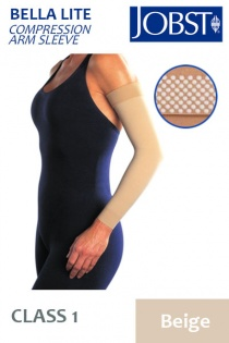 Jobst Bella Lite Class 1 Beige Compression  Arm Sleeve with Dotted Silicone Band