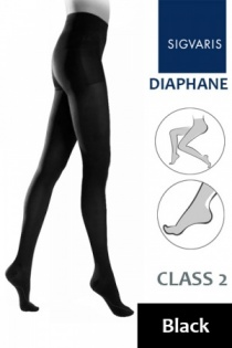 Sigvaris Diaphane Class 2 Black Compression Tights