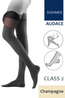 Sigvaris Audace Class 2 Champagne Thigh Compression Stockings