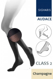 Sigvaris Audace Class 2 Champagne Calf Compression Stockings