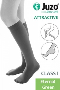 Juzo Attractive Class 1 Eternal Green Below Knee Compression Stockings