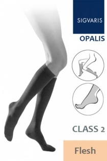 Sigvaris Opalis Class 2 Flesh Calf Compression Stockings