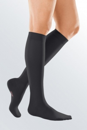 Medi Mediven Elegance Class 1 Black Below Knee Compression Stockings