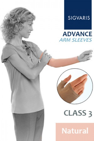 Sigvaris Advance 30 - 40 mmHg Natural Compression Sleeve with Grip Top