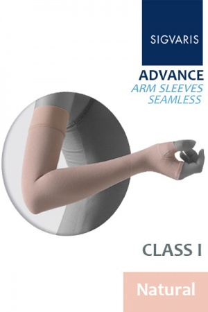 Sigvaris Advance 14 - 18 mmHg Natural Arm Sleeve With Seamless Mitten