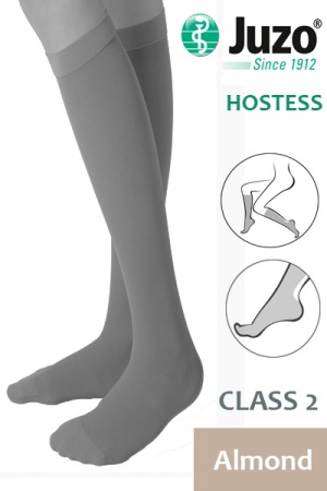 Juzo Hostess Class 2 Almond Knee High Compression Stockings