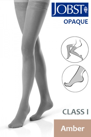 Jobst Opaque Class 1 Amber Thigh High Compression Stockings