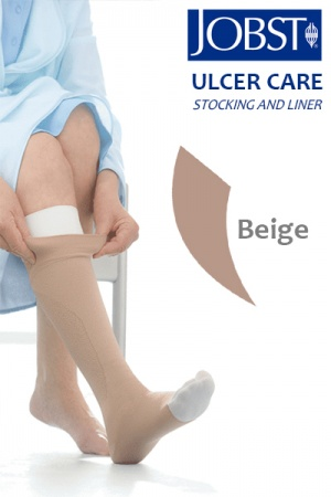 Jobst UlcerCare Beige Compression Stocking with Liner