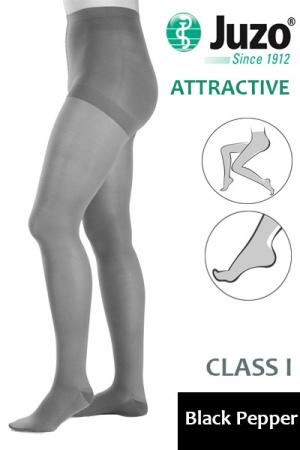 Juzo Attractive Class 1 Black Pepper Compression Tights