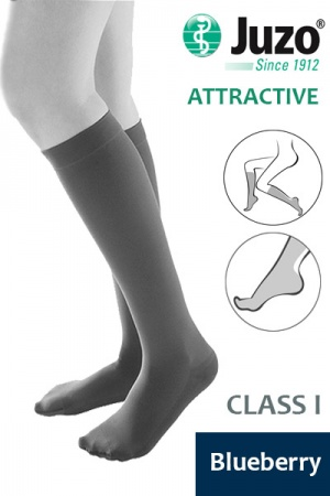Juzo Attractive Class 1 Blueberry Below Knee Compression Stocking