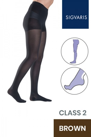 Sigvaris Style Semitransparent Class 2 Brown Compression Tights