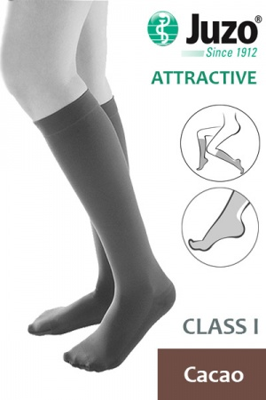 Juzo Attractive Class 1 Cacao Below Knee Compression Stocking