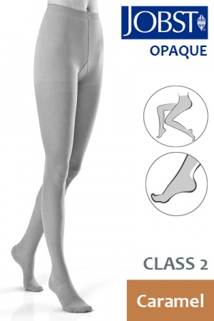 Jobst Opaque Class 2 Caramel Compression Tights