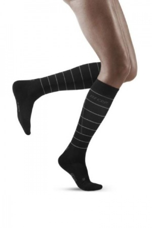 CEP Black Reflective Running Compression Socks for Women