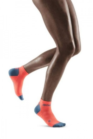 CEP Coral/Grey 3.0 Low Cut Compression Socks for Women