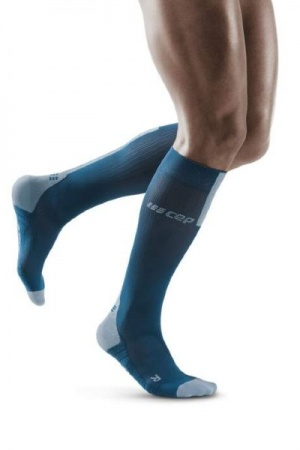 CEP Run Blue/Grey Compression Socks 3.0 for Men