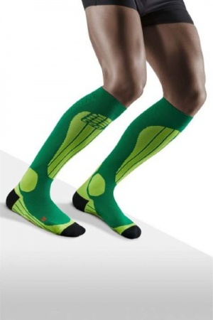 CEP Ski Thermo Forest/Light Green Compression Socks for Men