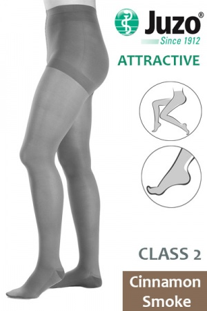 Juzo Attractive Class 2 Cinnamon Smoke Compression Tights