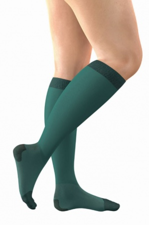 FitLegs Continued Care Below-Knee Closed-Toe Anti-Embolism Compression Stockings