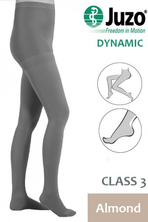Juzo Dynamic Class 3 Almond Compression Tights