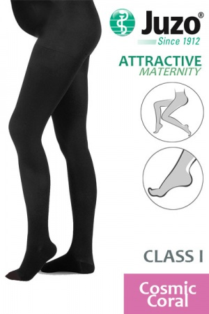 Juzo Attractive Class 1 Cosmic Coral Maternity Compression Tights