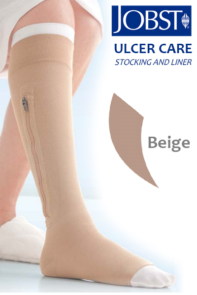 Magnus JOBST Compression Stockings With Zipper for Venous Leg Ulcer care