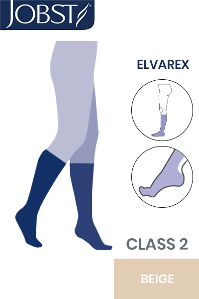 Jobst Elvarex Class 2 Beige Knee High Compression Stockings Compression Stockings