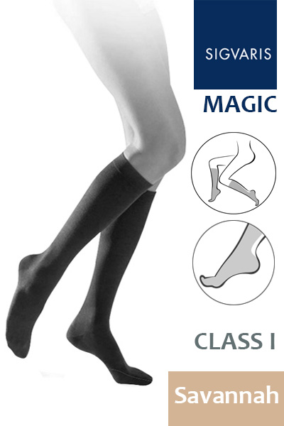 96658df58f Sigvaris Magic Class 1 Savannah Calf Compression Stockings ...