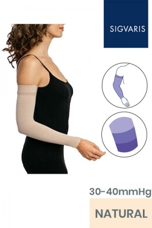Sigvaris Advance Unisex 30 - 40 mmHg Natural Compression Arm Sleeve with Sensinnov Grip