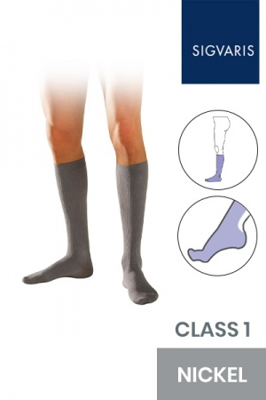 Sigvaris Initial Male Class 1 Knee High Nickel Compression Socks