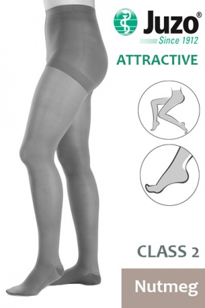 Juzo Attractive Class 2 Nutmeg Compression Tights