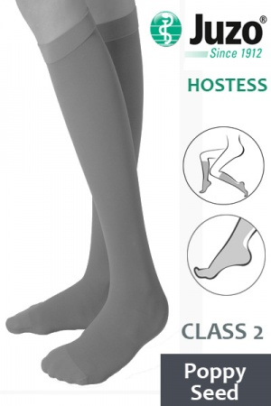 Juzo Hostess Class 2 Poppy Seed Knee High Compression Stockings
