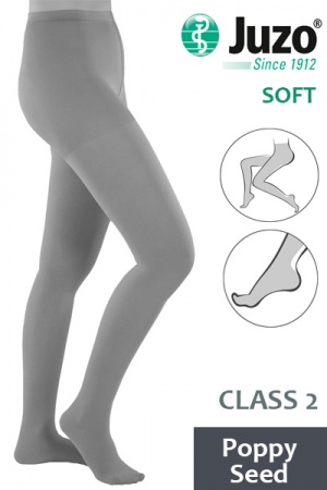 Juzo Soft Class 2 Poppy Seed Compression Tights