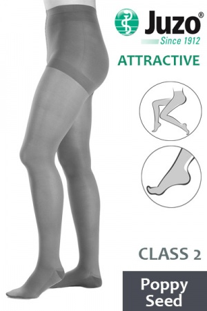 Juzo Attractive Class 2 Poppy Seed Compression Tights