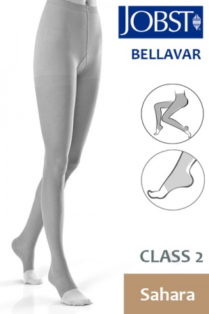 Jobst Bellavar Class 2 Sahara Compression Tights with Open Toe