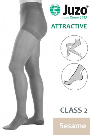 Juzo Attractive Class 2 Sesame Compression Tights