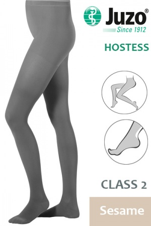 Juzo Hostess Class 2 Sesame Compression Tights