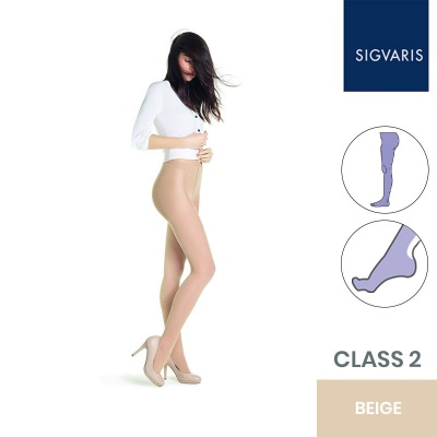 Sigvaris Style Transparent Class 2 Beige Two (120) Compression Tights