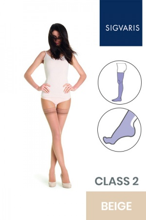 Sigvaris Style Transparent Class 2 Thigh Beige Three (130) Compression Stockings