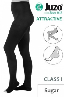Juzo Attractive Class 1 Sugar Compression Tights with Open Toe