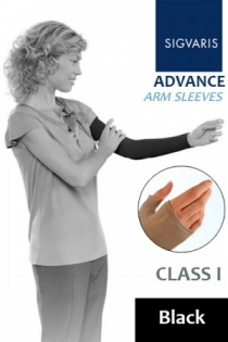 Sigvaris Advance 14 - 18 mmHg Black Compression Sleeve
