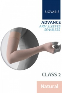 Sigvaris Advance Class 2 Natural Arm Sleeve with Seamless Mitten