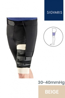 Sigvaris Comprefit Unisex Adjustable Beige Thigh Compression Sleeve with Hip Attachment
