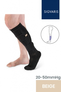 Sigvaris Compreflex Transition Adjustable Unisex Beige Calf Compression Sleeve