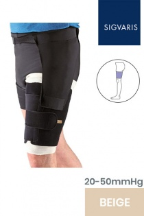 Sigvaris Compreflex Unisex Adjustable Beige Thigh Compression Sleeve with Hip Attachment