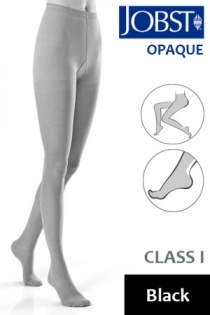 Jobst Opaque Class 1 Black Compression Tights