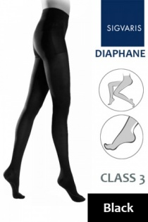 Sigvaris Diaphane Class 3 Black Compression Tights