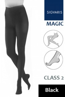 Sigvaris Magic Class 2 Black Compression Tights
