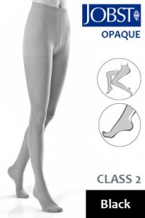 Jobst Opaque Class 2 Black Compression Tights